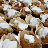 Frittini con fonduta di gorgonzola