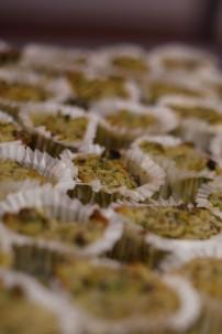 Muffin salati di zucchine, patate e lumache
